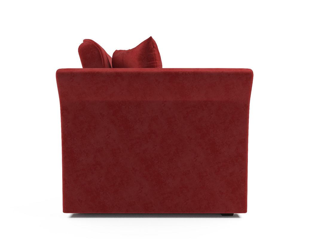 Диван Мебель-АРС Малютка №2 (бархат красный  STAR VELVET 3 DARK RED) - фото 4