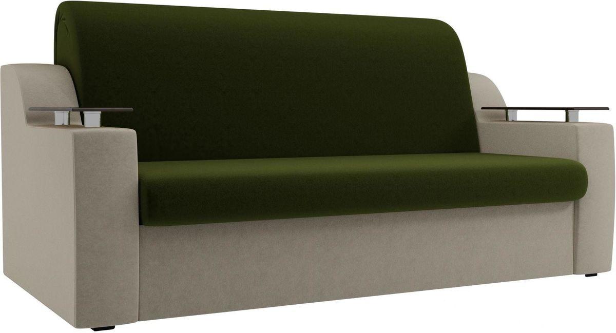 Диван Mebelico Сенатор 100711 160, микровельвет зеленый/бежевый - фото 3