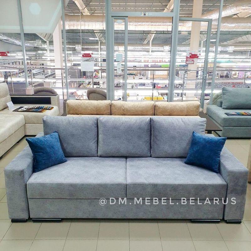 Диван DM-мебель Премьер 3 трехместный (светло-серый) - фото 1