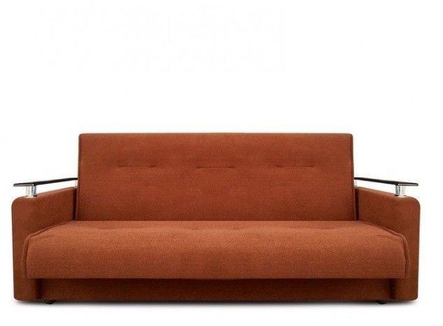 Диван Луховицкая мебельная фабрика Милан Люкс (Астра коричневый) пружинный 120x190 - фото 2