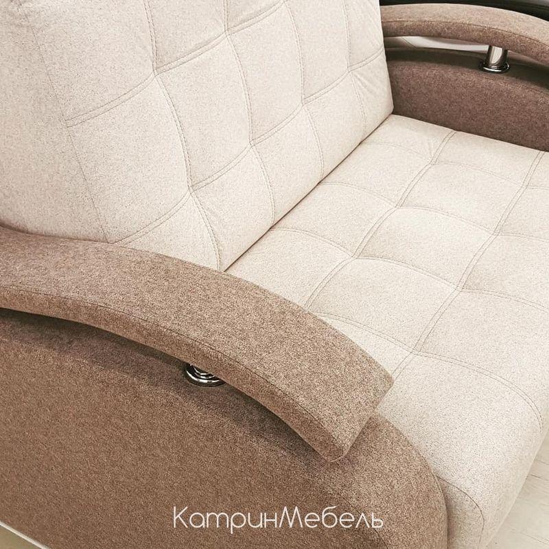Диван DM-мебель Поло-2 прямой (бежевый/коричневый) - фото 3
