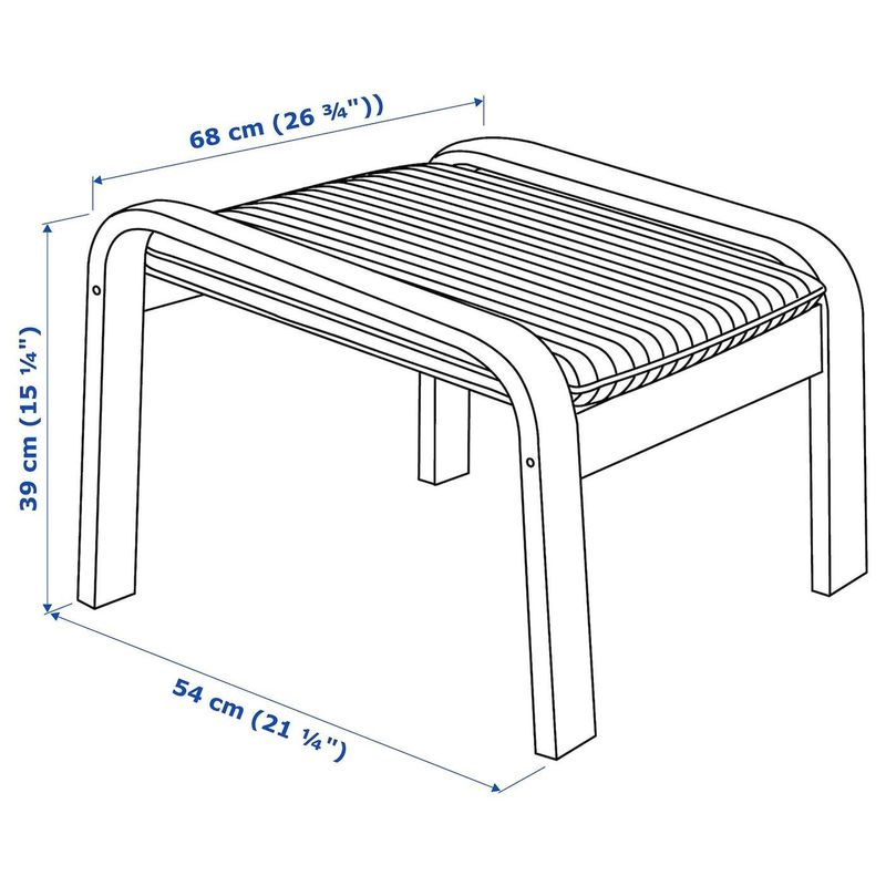 Пуфик IKEA Поэнг 893.028.10 - фото 6