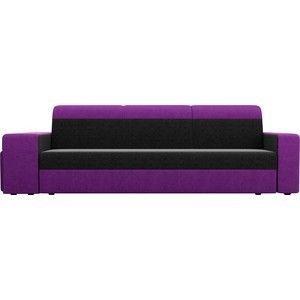 Диван ЛигаДиванов Мустанг вельвет черный/фиолетовый - фото 4
