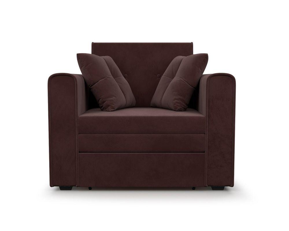 Кресло Мебель-АРС Санта (велюр шоколадный) - фото 2