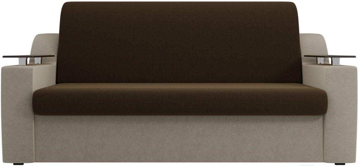 Диван Mebelico Сенатор 100712 120, микровельвет коричневый/бежевый - фото 5