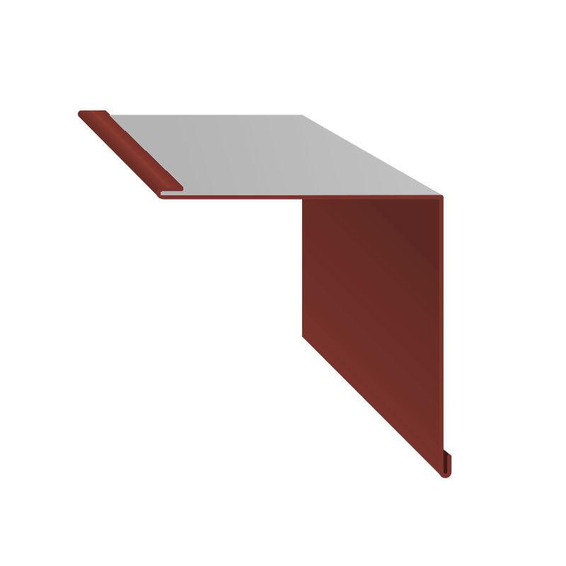 Комплектующие для кровли Скайпрофиль Планка угла внутреннего 2м 115 полиэстер глянцевый 0,50мм (RAL3009) - фото 2