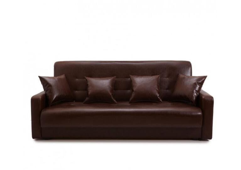 Диван Craftmebel Аккорд коричневая экокожа - фото 1