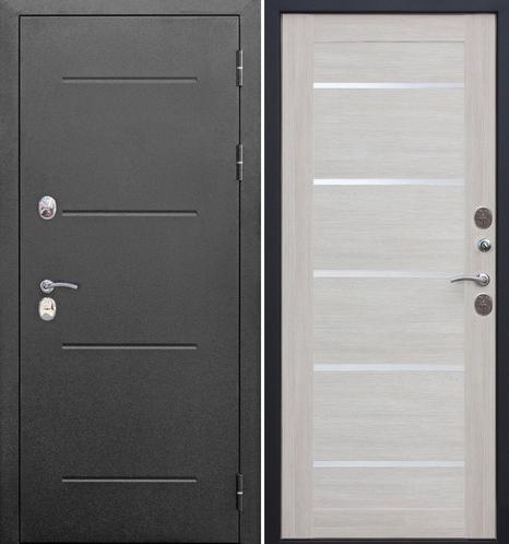 Входная дверь Гарда Isoterma серебро (Лиственница беж/белое стекло) - фото 1