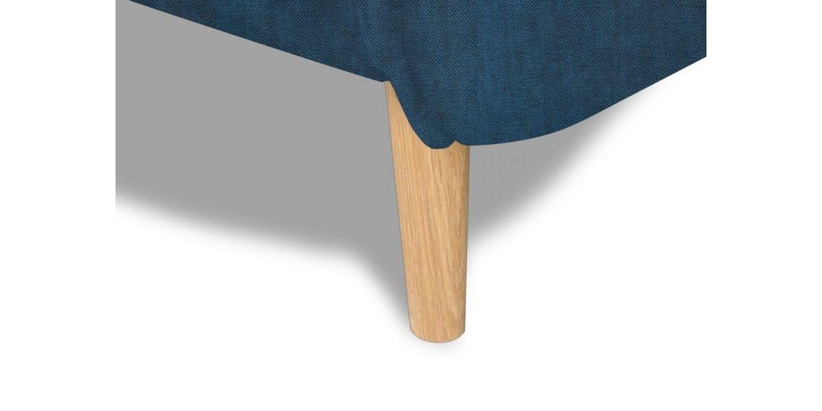 Диван WOWIN угловой Люкке Релакс лазурно-синий велюр (4- местный) - фото 9