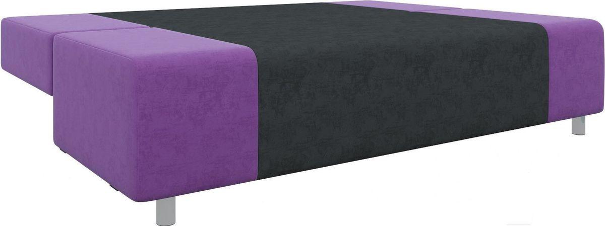 Диван Mebelico Чарли 63 микровельв. фиолетовый/черный - фото 3