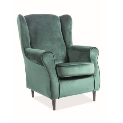 Кресло Signal Baron Velvet Bluvel 78 (зеленый) - фото 1
