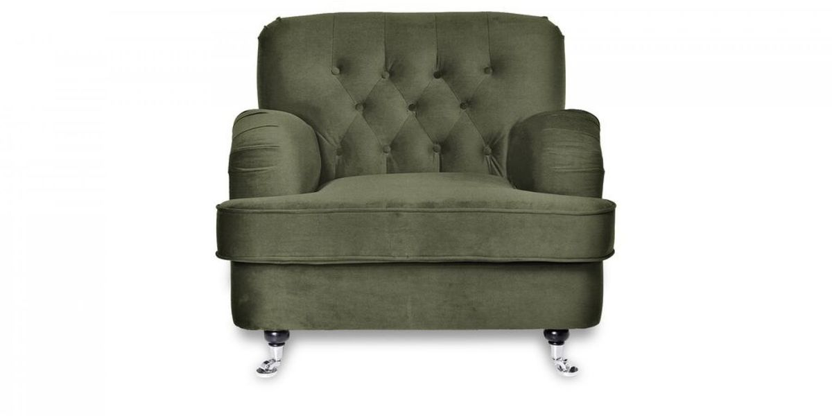 Кресло WOWIN Фулхаус (Кофейно-серый велюр) - фото 2