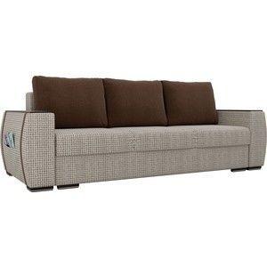 Диван ЛигаДиванов Брион корфу 02, подушки коричневые - фото 1