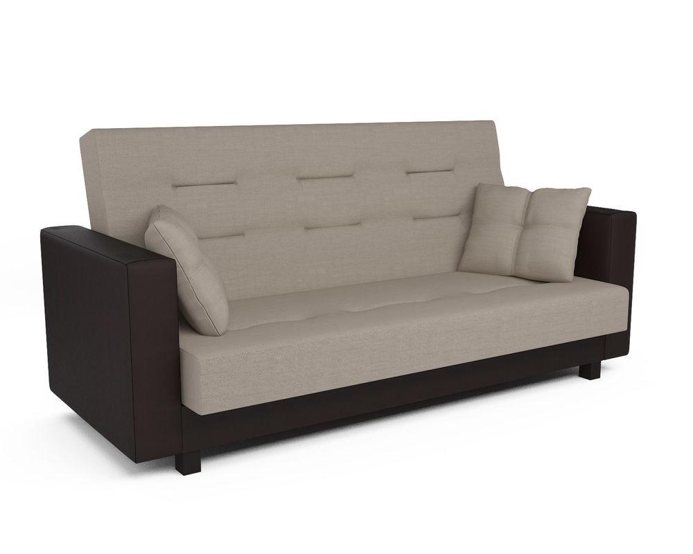 Диван Мебель-АРС Лофт (рогожка бежевая) - фото 1