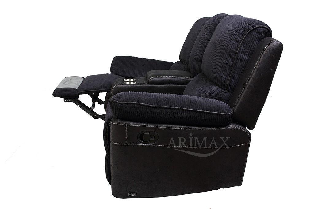 Диван Arimax Брукс (Ежевика) с консолью и реклайнерами - фото 6