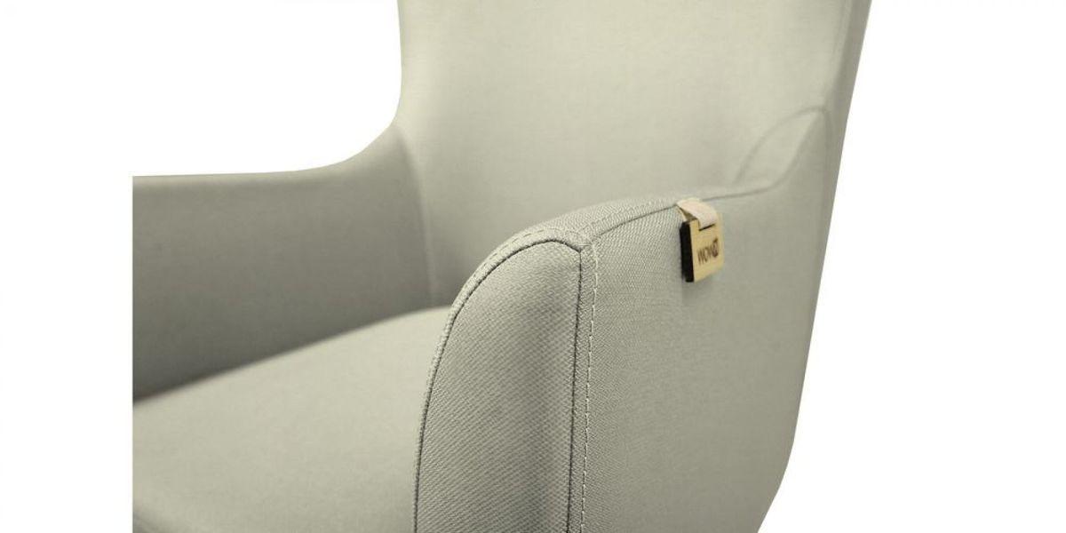 Кресло WOWIN Элеганза высокое (Серебряный микровелюр) - фото 4