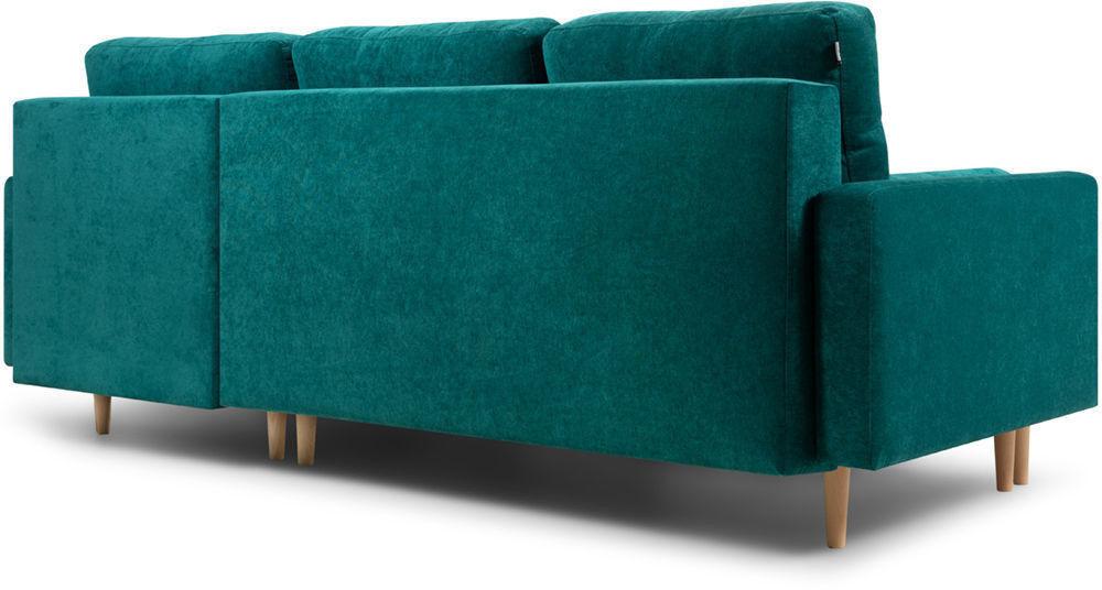 Диван Woodcraft Динс Velvet Угловой Emerald - фото 5