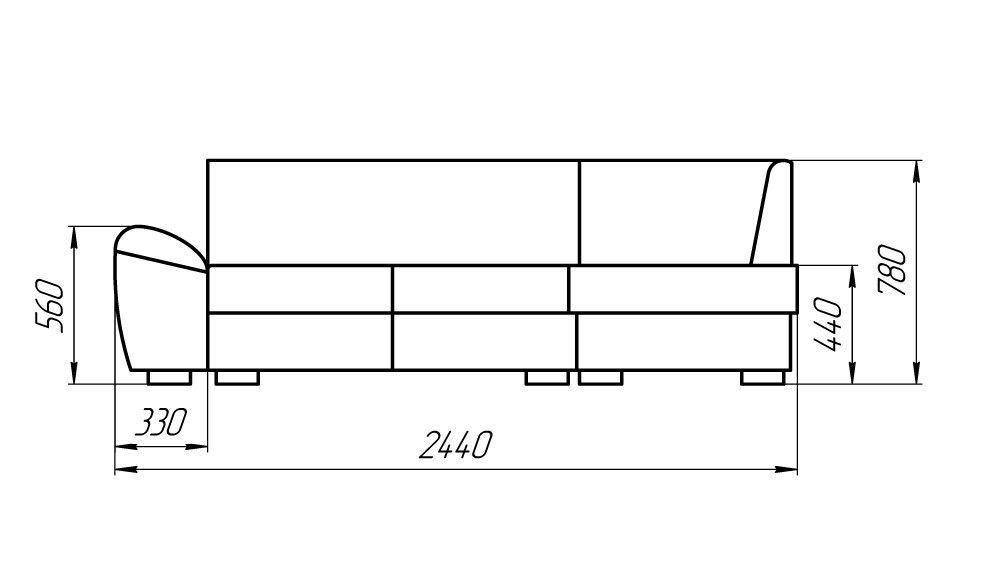 Диван LAMA мебель Дельфин 3М (угловой) - фото 3