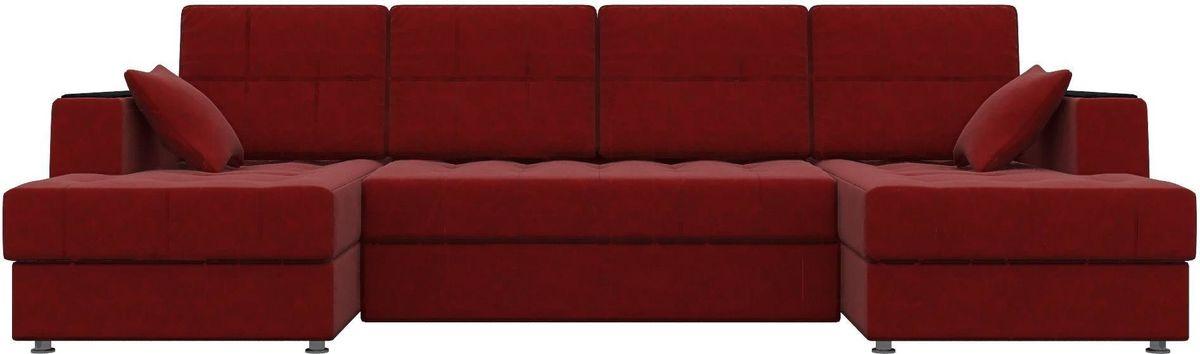 Диван Mebelico Эмир-П 85 микровельвет красный - фото 1