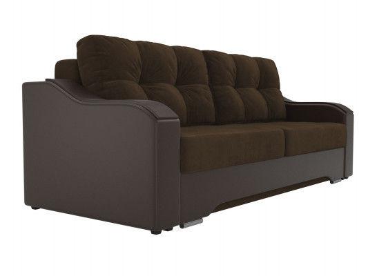 Диван ЛигаДиванов Браун 102163 велюр коричневый/экокожа коричневый - фото 4