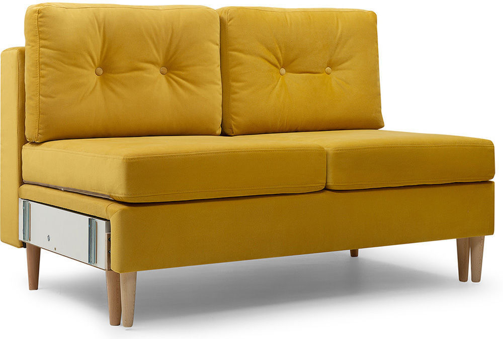Диван divan.by Динс-1 Velvet Yellow (прямой) - фото 2