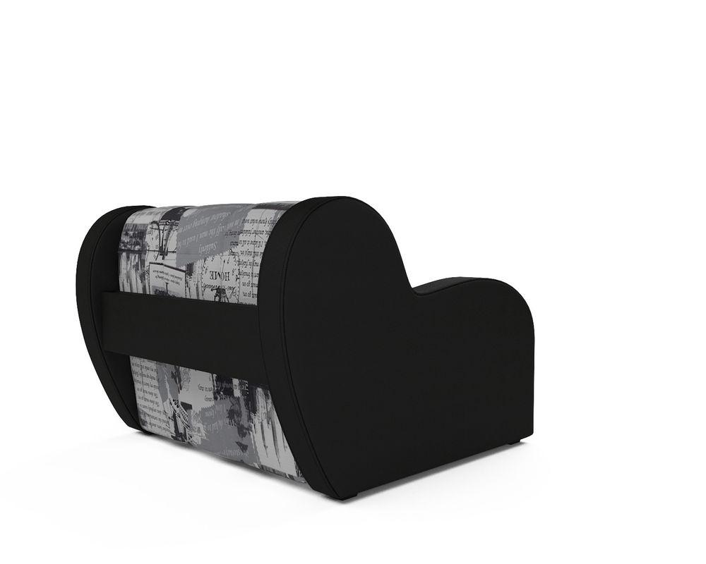 Кресло Мебель-АРС Аккордеон Барон газета (жаккард + экокожа) - фото 4