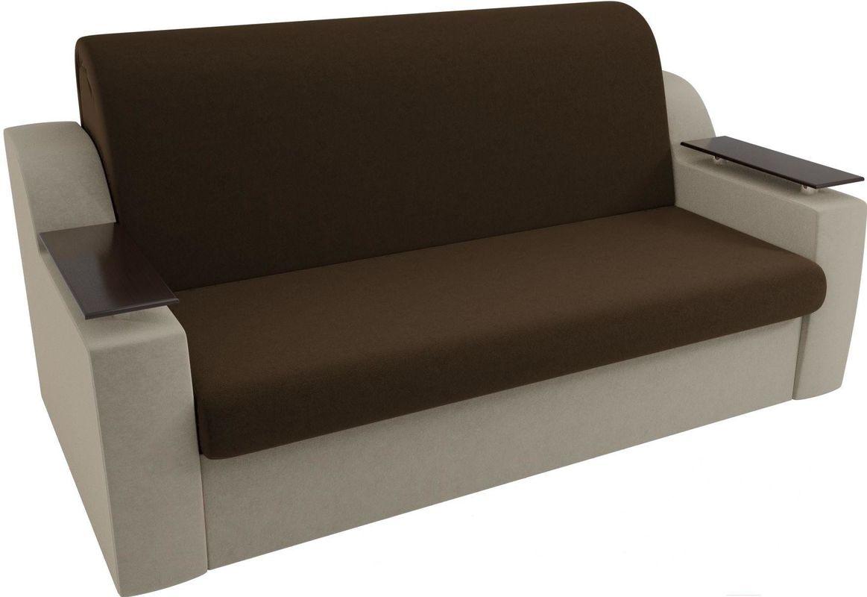 Диван Mebelico Сенатор 100712 120, микровельвет коричневый/бежевый - фото 4