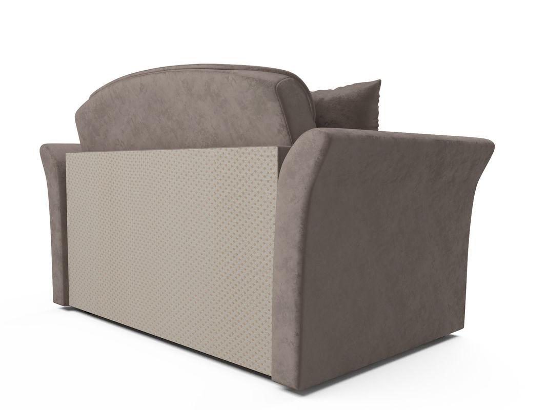 Диван Мебель-АРС Малютка №2 (бархат серо-шоколадный STAR VELVET 60 COFFEE) - фото 3