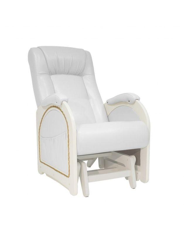 Кресло Impex Кресло-гляйдер Модель 48 экокожа сливочный (mango 002) - фото 1