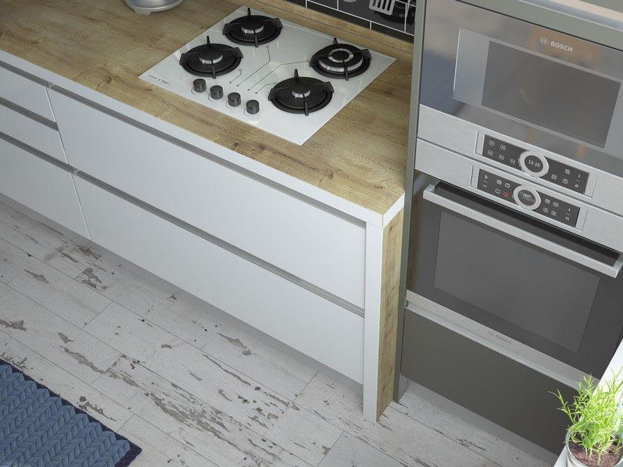 Кухня ЗОВ Из акрила Интегро Сахар/Песок - фото 4