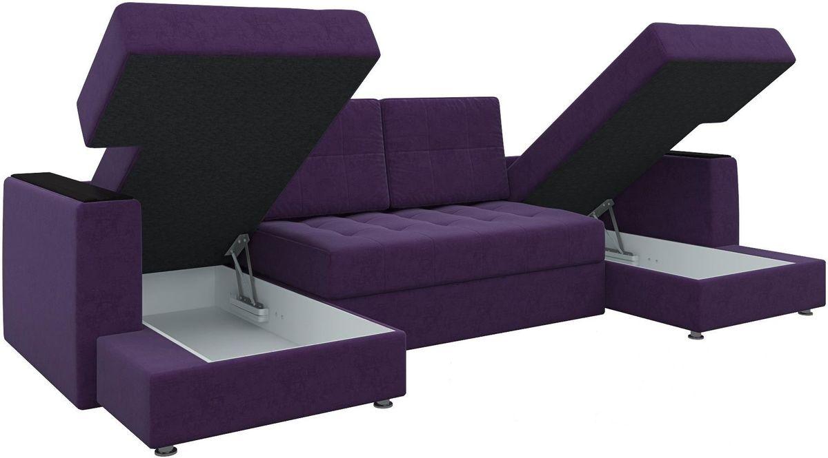 Диван Mebelico Эмир-П 85 микровельвет фиолетовый - фото 4