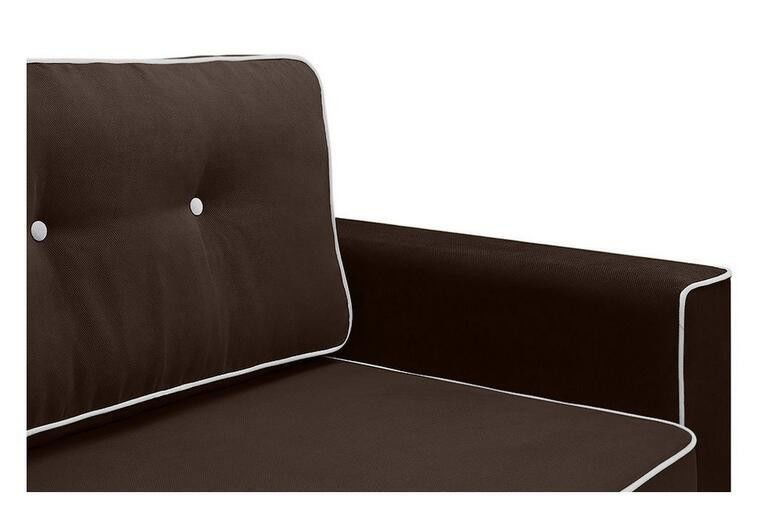 Диван Craftmebel Прямой Сильвио коричневая рогожка - фото 4