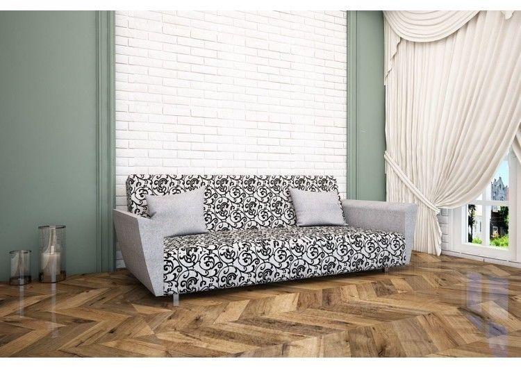 Диван Раевская мебельная фабрика Рогожка Орнамент серый 00440 - фото 1