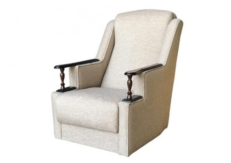 Кресло Craftmebel Анна с деревянными подлокотниками - фото 1
