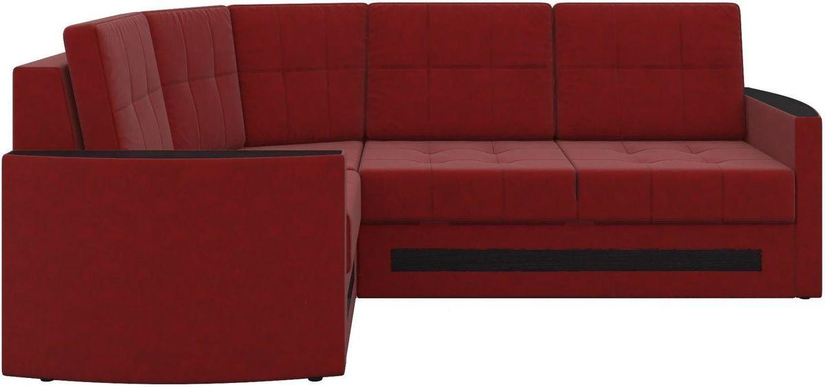 Диван Mebelico Белла У 476 левый вельвет красный - фото 3