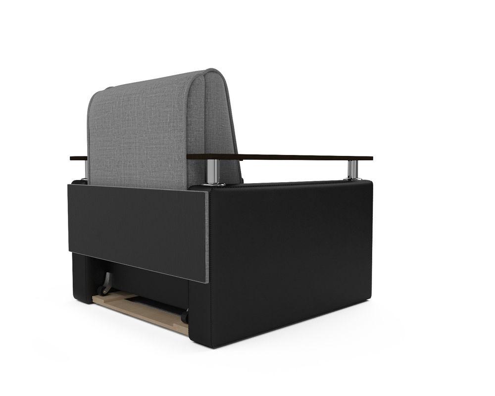 Кресло Мебель-АРС Шарм - Grey (рогожка + экокожа) - фото 4