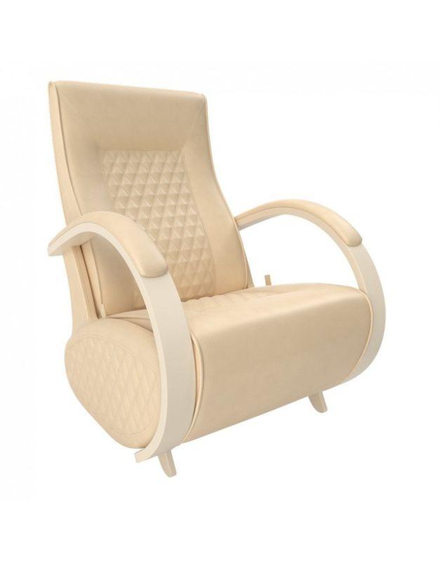 Кресло Impex Balance-3 экокожа сливочный (dundi 112) - фото 2