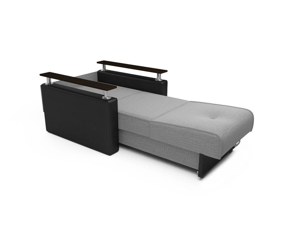 Кресло Мебель-АРС Шарм - Grey (рогожка + экокожа) - фото 6