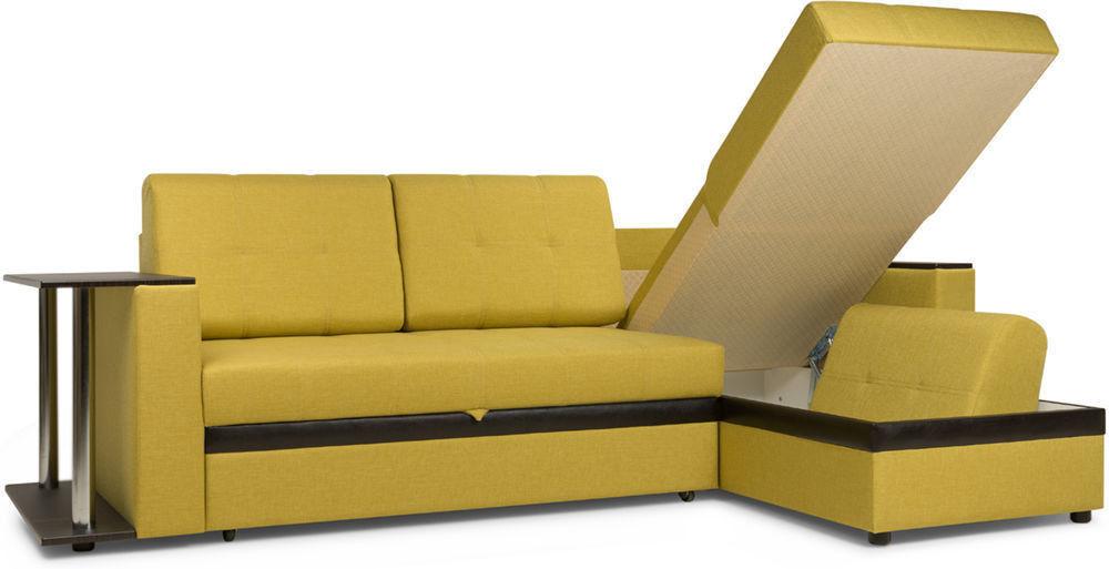 Диван Woodcraft Угловой Атланта Textile Yellow - фото 4