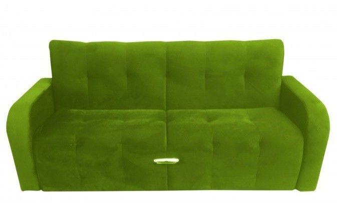 Диван Луховицкая мебельная фабрика Марсель (велюр зеленый) 140x190 - фото 1