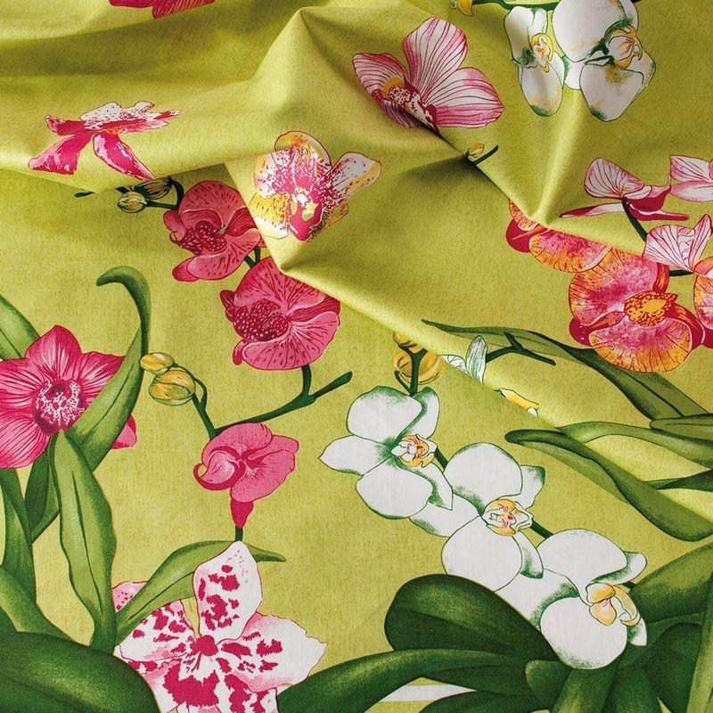 Beauville Скатерть Orchidees Green Ground 170х240 - фото 1