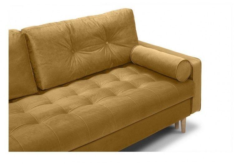 Диван Craftmebel Ситено (вельвет желтый) - фото 3