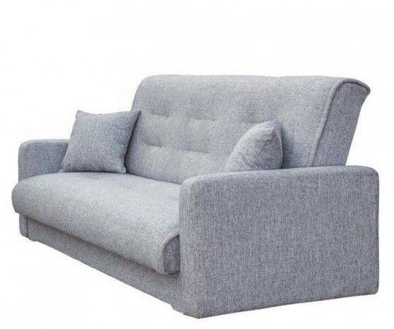 Диван Луховицкая мебельная фабрика Лондон (рогожка серая) 140x190 - фото 1