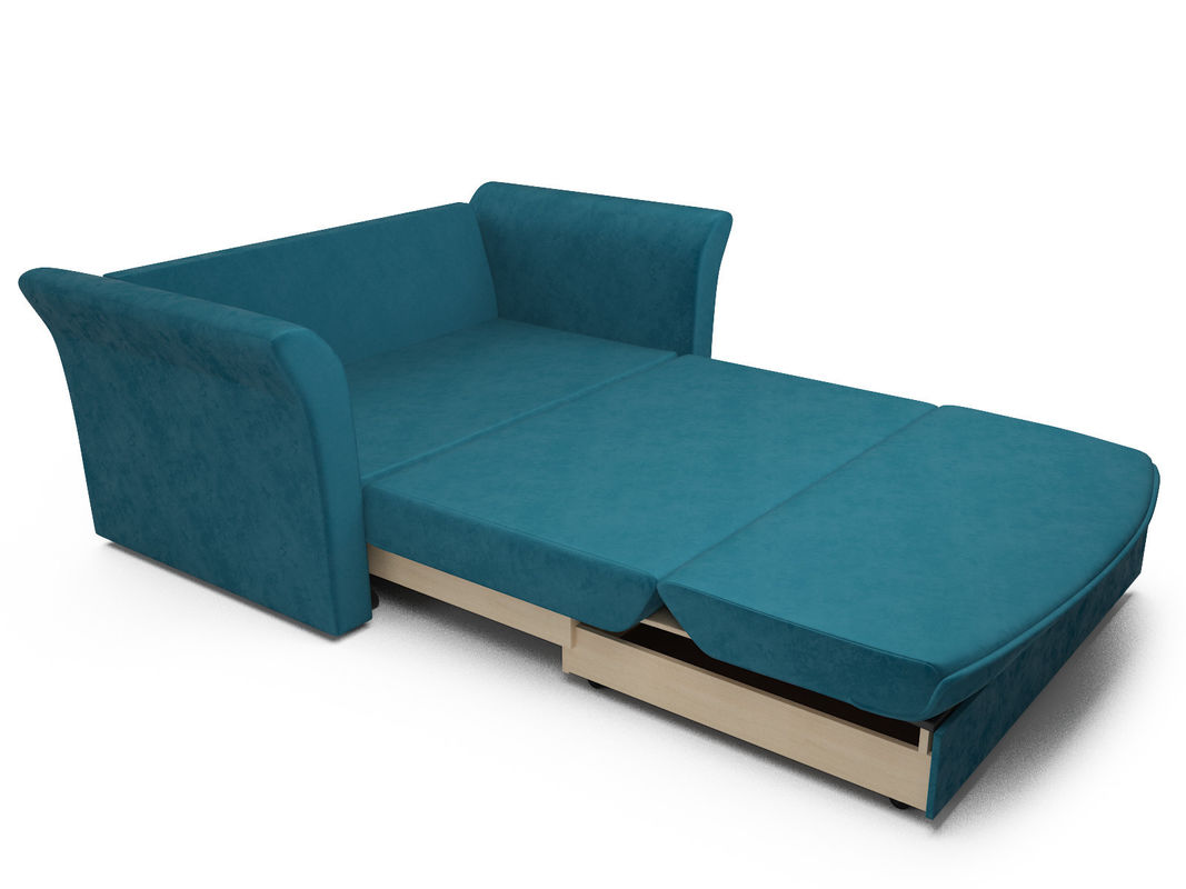 Диван Мебель-АРС Малютка №2 (бархат сине-зеленый  STAR VELVET 43 BLACK GREEN) - фото 5