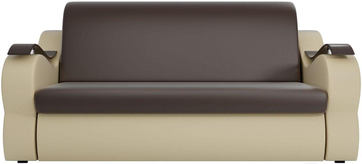 Диван Mebelico Меркурий 222 140,экокожа коричневый/бежевый - фото 1