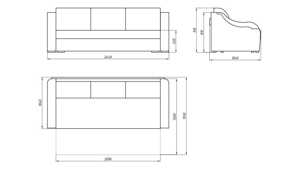 Диван LAMA мебель Денвер 3 - фото 6