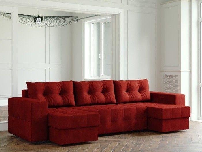 Диван Настоящая мебель Ванкувер Мейсон (модель: 00-000000611) бордовый - фото 1