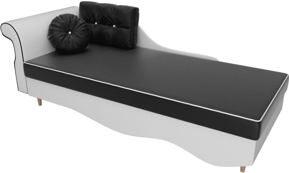 Диван Mebelico Лорд левый 101235 экокожа черный/белый - фото 2