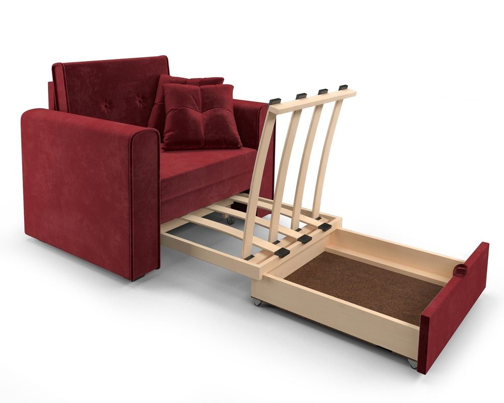 Кресло Мебель-АРС Санта (бархат красный) - фото 7