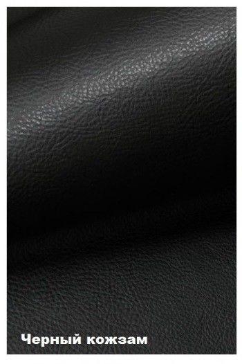 Диван Кристалл Аккордеон выкатной (80x195) черная экокожа - фото 2